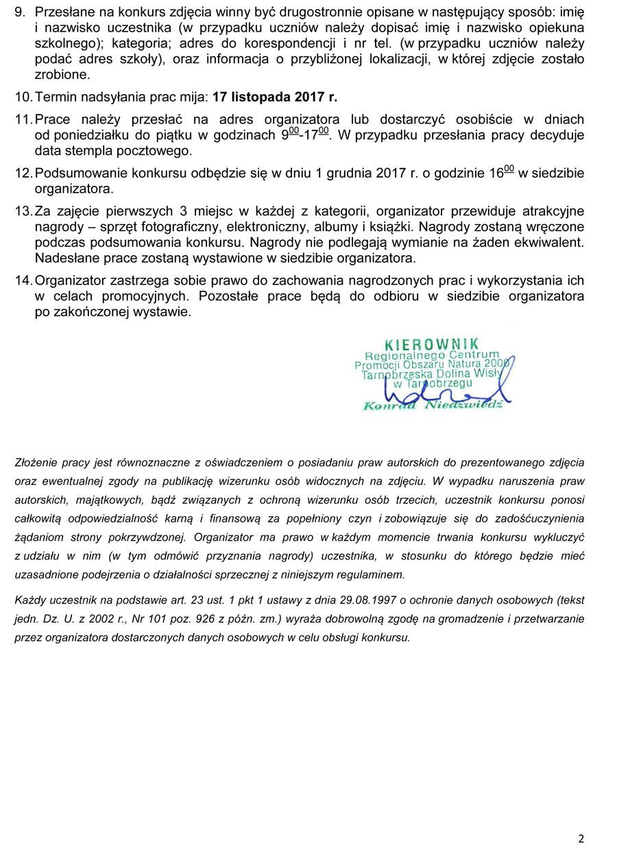 Konkurs foto regulamin Rok Rzeki Wisły - wiślane pejzaże